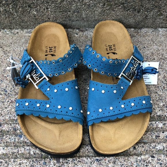 6e6a53951 Betula Birkenstock Swarovski Blue Sandal Sz 38 7